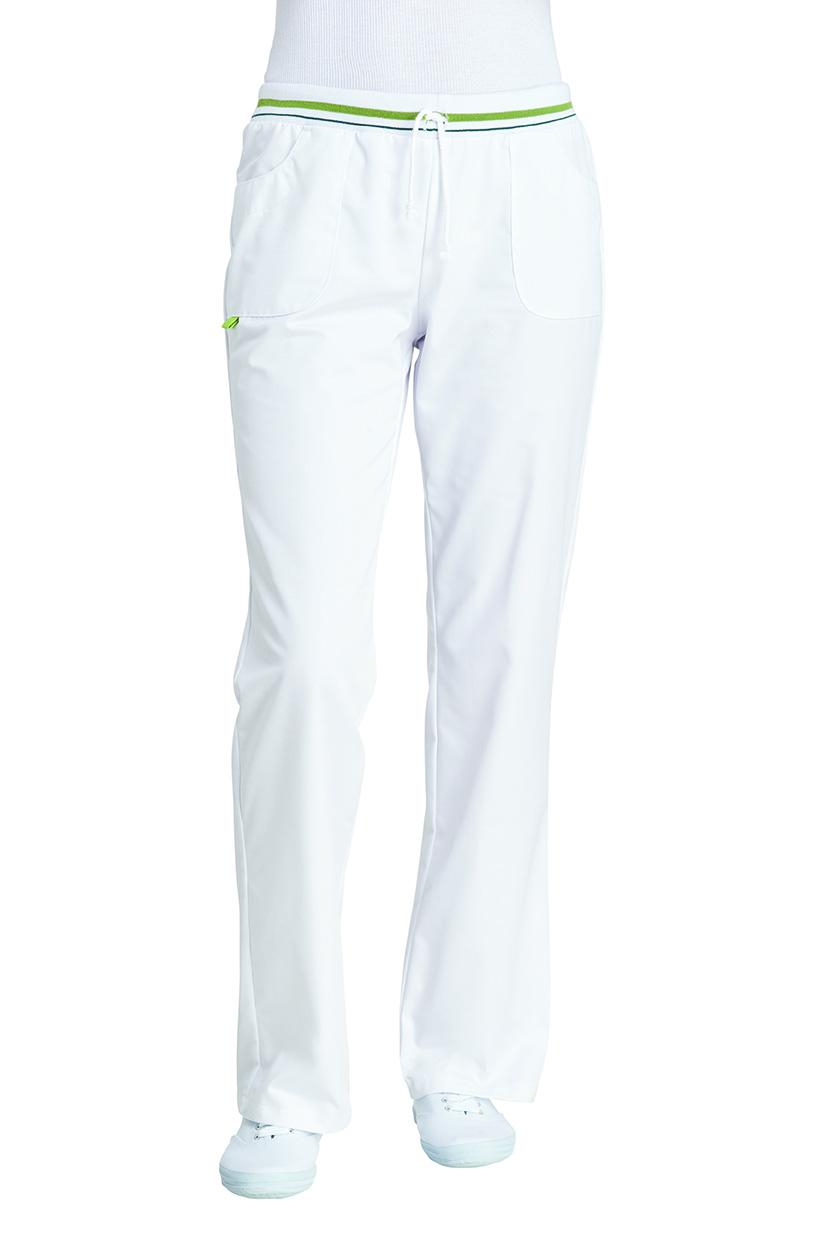Damenhose-weiss-apfelgrün