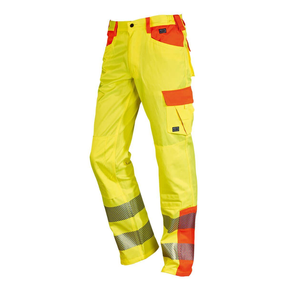 YO-HiViz Bundhose gelb/orange mit Reflexstreifen